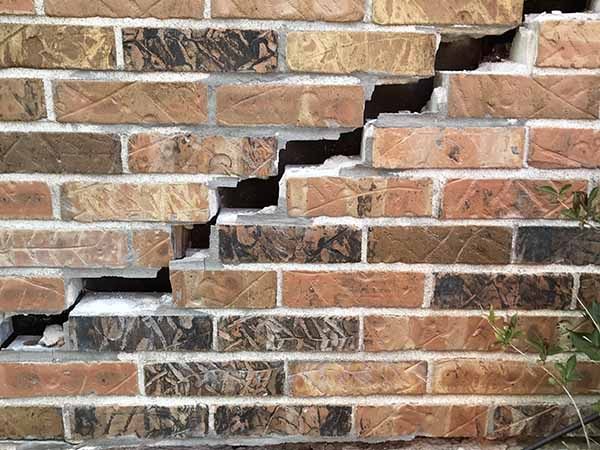 Brick Crack Due to Wall Push